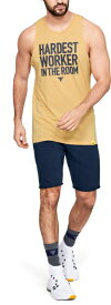 【公式】アンダーアーマー(UNDER ARMOUR)tシャツ UA Project Rock カットオフTシャツ<Iron Therapy> ( トレーニング トレーニングウェア フィットネス ウェア/タンクトップ/MEN メンズ ) 1345816 タンクトップ