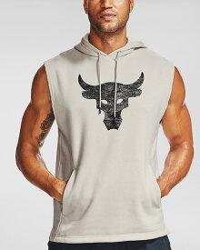 公式 アンダーアーマー UNDER ARMOUR UA PROJECT ROCK チャージドコットン スリーブレス フーディー トレーニング メンズ 1357181