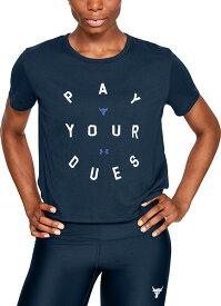 【公式】アンダーアーマー(UNDER ARMOUR)(UNDER ARMOUR) ザ・ロック ドウェイン・ジョンソン UA THE Rock デューズ グラフィック Tシャツ ( トレーニング / Tシャツ / WOMENS)