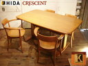 Total SALE HIDA And Hida Sangyo Woodpecker House Furniture CRESCENT /  Crescent Dining Table + Chairs 4 Set Hida Takayama Antique Wood / Wooden  Grand ...