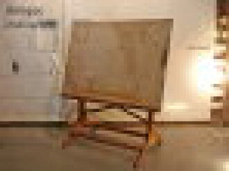起SALE Antique/古董Drafting table/dorafutinguteburuindasutoriarudezain制图的台阶工作台工业设计工作室绘画画架招牌,起菜单复古木材木制