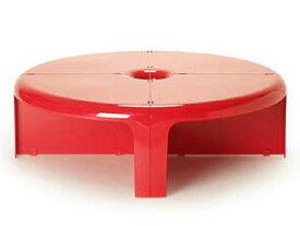 Quattro Quarti /クアトロ クアルティ レッド テーブル シェルフ 4パーツ1セット スペースエイジ B-line/ビーライン イタリア 正規品【新品】