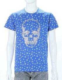 ルシアンペラフィネ lucien pellat-finet ペラフィネ Tシャツ 半袖 丸首 メンズ EVH1664 ブルー 送料無料 楽ギフ_包装 LPF値下げ