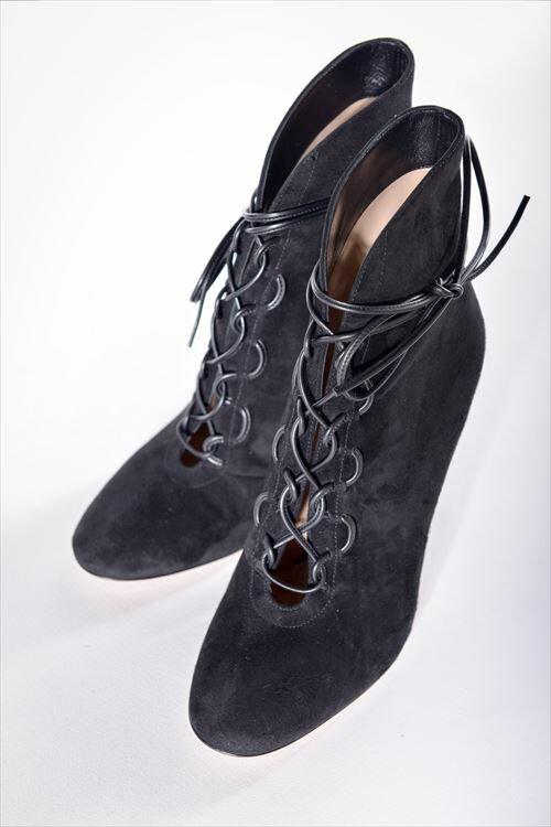 2016年秋冬新作 ジャンヴィトロッシ GIANVITO ROSSI ジャンヴィト ロッシ パンプス グラディエーター 靴 レディース G70581 CAMOSCIO ブラック 送料無料 SALE16AW