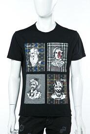 ダニエレアレッサンドリーニ DANIELEALESSANDRINI Tシャツ 半袖 丸首 MAGLIA POP ART CHECK SCRITTORE ST メンズ M6009E6433606 ブラック 送料無料 楽ギフ_包装