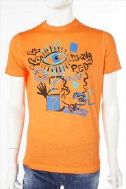 ディースクエアード DSQUARED2 ディースクエアード Tシャツ 半袖 丸首 メンズ S71GD0209S21600 オレンジ 送料無料 楽ギフ_包装 DSQ値下げ 2004値下げ