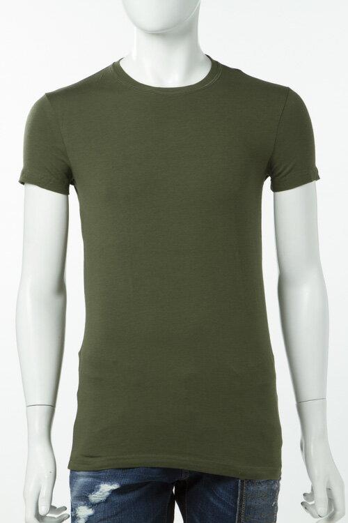 2017年春夏 ディースクエアード DSQUARED2 Tシャツアンダーウェア Tシャツ 半袖 丸首 メンズ DCX410020 カーキ 楽ギフ_包装