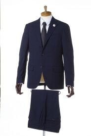 ラルディーニ LARDINI スーツ 2つボタン サイドベンツ シングル ブートニエール メンズ PT32485AQ 44426 ネイビー 送料無料 一押値下 【ラッキーシール対応】