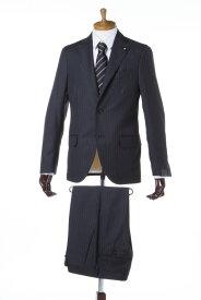 ラルディーニ LARDINI スーツ 3つボタン サイドベンツ シングル AQC868125 ブートニエール メンズ EC485AQ 868125 ダークグレイ 送料無料 【ラッキーシール対応】