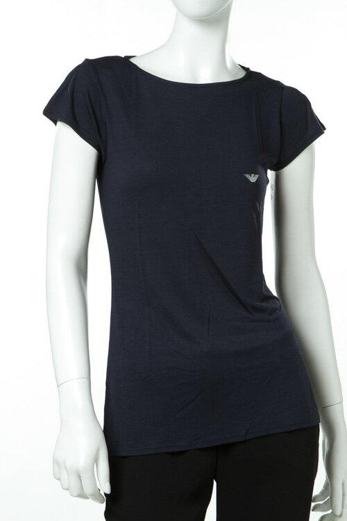 アルマーニ エンポリオアルマーニ Emporio Armani Tシャツアンダーウェア Tシャツ 半袖 丸首 レディース 163866 7P261 ネイビー 送料無料 楽ギフ_包装
