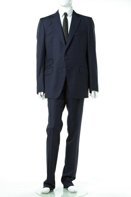 2017年春夏新作 トムフォード TOM FORD スーツ ビジネススーツ シングル メンズ 911R58 21YA4C R ネイビー 送料無料