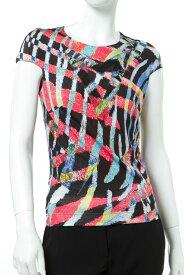 ジャストカヴァリ ジャストカバリ JUST CAVALLI Tシャツ 半袖 フレンチスリーブ Uネック レディース NC0108 20841 マルチ 送料無料 楽ギフ_包装