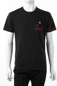 ダニエレアレッサンドリーニ DANIELEALESSANDRINI Tシャツ 半袖 丸首 MAGLIA CROCIERA ST メンズ M6381E6433706 ブラック 送料無料 楽ギフ_包装 2017AW_SALE