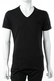 ダニエレアレッサンドリーニ DANIELEALESSANDRINI Tシャツ 半袖 Vネック MAGLIA MATTINA ST メンズ M90233706 ブラック 送料無料 楽ギフ_包装 2017AW_SALE
