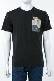 ダニエレアレッサンドリーニ DANIELEALESSANDRINI Tシャツ 半袖 丸首 MAGLIA UN TASCHINO E UNA POCHETT メンズ M6374E6433706 ブラック 送料無料 楽ギフ_包装 2017AW_SALE