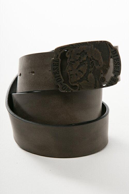 ディーゼル DIESEL ベルト レザーベルト - B-HEADD - belt X03961 PR227 カーキ 送料無料 楽ギフ_包装