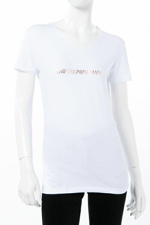 アルマーニ エンポリオアルマーニ Emporio Armani Tシャツアンダーウェア Tシャツ 半袖 Vネック レディース 163321 7A263 ホワイト 送料無料 楽ギフ_包装