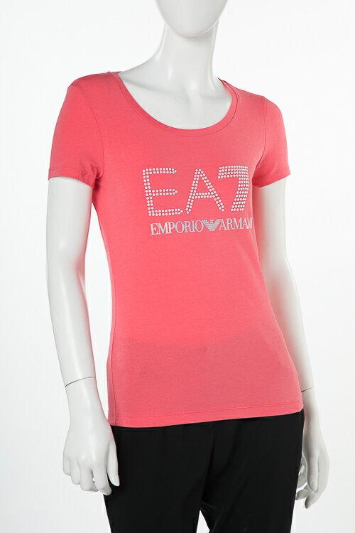 アルマーニ エンポリオアルマーニ Emporio Armani EA7 Tシャツ 半袖 丸首 レディース 3ZTT81 TJ12Z ピンク 送料無料 楽ギフ_包装