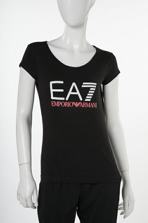 アルマーニ エンポリオアルマーニ Emporio Armani EA7 Tシャツ 半袖 丸首 レディース 3ZTT80 TJ12Z ブラック 送料無料 楽ギフ_包装