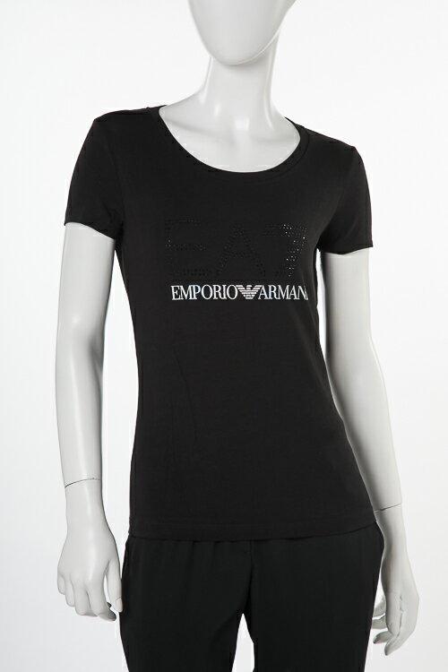 アルマーニ エンポリオアルマーニ Emporio Armani EA7 Tシャツ 半袖 丸首 レディース 3ZTT78 TJ12Z ブラック 送料無料 楽ギフ_包装