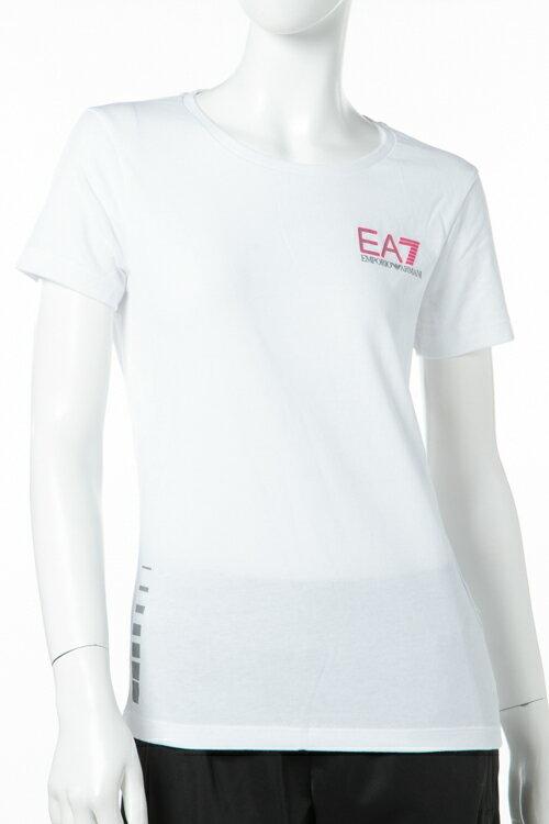 アルマーニ エンポリオアルマーニ Emporio Armani EA7 Tシャツ 半袖 丸首 レディース 3ZTT65 TJJ6Z ホワイト 送料無料 楽ギフ_包装