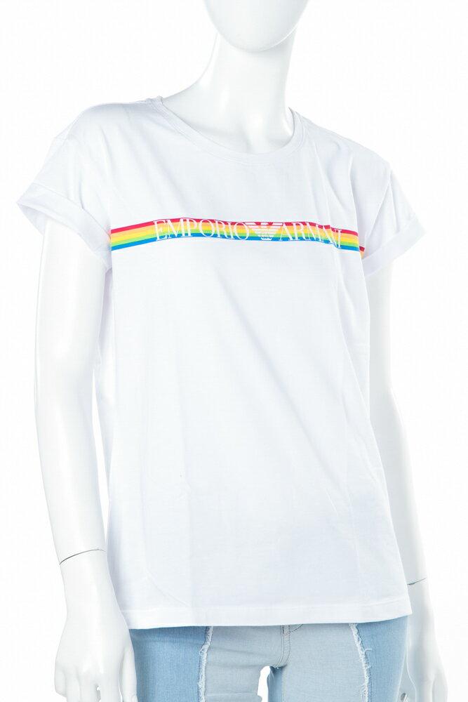 アルマーニ エンポリオアルマーニ Emporio Armani Tシャツアンダーウェア Tシャツ 半袖 丸首 レディース 163762 8P217 ホワイト 楽ギフ_包装