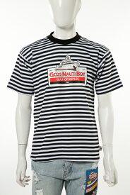 ジーシーディーエス GCDS Tシャツ 半袖 丸首 メンズ SS18M020068 ブラック×ホワイト 送料無料 楽ギフ_包装 目玉商品