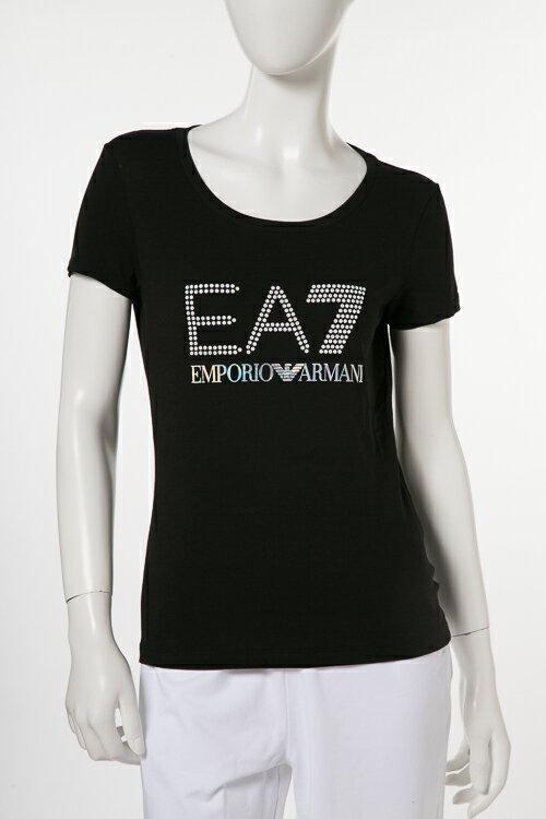 アルマーニ エンポリオアルマーニ Emporio Armani EA7 Tシャツ 半袖 丸首 レディース 3ZTT81 TJ12Z ブラック 送料無料 楽ギフ_包装