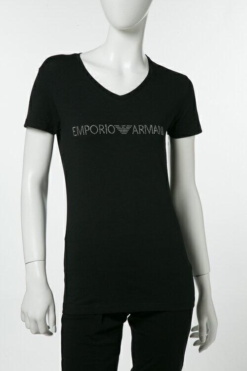 アルマーニ エンポリオアルマーニ Emporio Armani Tシャツアンダーウェア Tシャツ 半袖 丸首 レディース 163321 8P263 ブラック 楽ギフ_包装