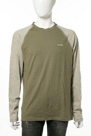 ディーゼル DIESEL ロングTシャツ ロンT 長袖 丸首 クルーネック UMLT-ALBERT T-shirt L S メンズ 00SV3E 0GAPJ カーキ 楽ギフ_包装