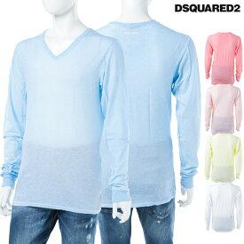 ディースクエアード DSQUARED2 Tシャツアンダーウェア ロングTシャツ ロンT 長袖 Vネック メンズ D9M600660 送料無料 楽ギフ_包装 【ラッキーシール対応】