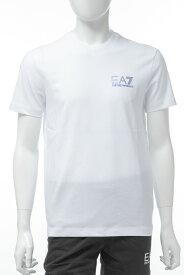 アルマーニ エンポリオアルマーニ Emporio Armani EA7 Tシャツ 半袖 丸首 クルーネック メンズ 3GPT49 PJJ6Z ホワイト 送料無料 楽ギフ_包装 【ラッキーシール対応】