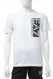 アルマーニ エンポリオアルマーニ Emporio Armani EA7 Tシャツ 半袖 Vネック メンズ 3GPT57 PJ03Z ホワイト 送料無料 楽ギフ_包装 【ラッキーシール対応】