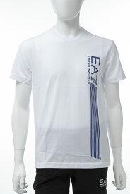 アルマーニ エンポリオアルマーニ Emporio Armani EA7 Tシャツ 半袖 丸首 クルーネック メンズ 3GPT67 PJ02Z ホワイト 送料無料 楽ギフ_包装 【ラッキーシール対応】