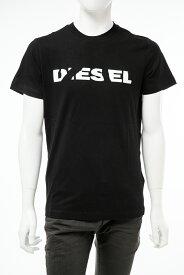 ディーゼル DIESEL Tシャツ 半袖 丸首 クルーネック T-DIEGO-BROK MAGLIETTA メンズ 00STXQ R091B ブラック 送料無料 楽ギフ_包装 【ラッキーシール対応】