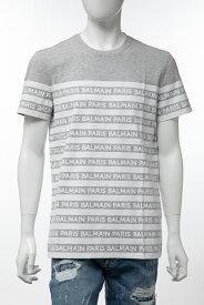 バルマン BALMAIN Tシャツ 半袖 丸首 クルーネック メンズ SH11601 I102 グレー 送料無料 楽ギフ_包装 2019年秋冬新作 【ラッキーシール対応】