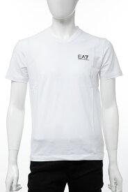 アルマーニ エンポリオアルマーニ Emporio Armani EA7 Tシャツ 半袖 Vネック メンズ 3GPT53 PJM5Z ホワイト 送料無料 楽ギフ_包装 【ラッキーシール対応】
