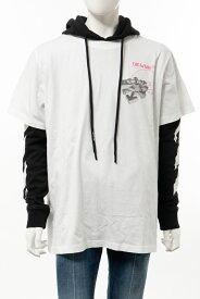 オフホワイト OFF-WHITE ロングTシャツ ロンT 長袖 パーカー 重ね着 メンズ AB033R20 185012 ホワイト 送料無料 楽ギフ_包装 【ラッキーシール対応】 2020年春夏新作