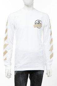 オフホワイト OFF-WHITE ロングTシャツ ロンT 長袖 丸首 クルーネック OMAB001R201850020148 メンズ AB001R20 185002 ホワイト 送料無料 楽ギフ_包装 2020年春夏新作 【ラッキーシール対応】