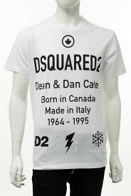 ディースクエアード DSQUARED2 Tシャツ 半袖 丸首 クルーネック メンズ S74GD0746S23009 ホワイト 送料無料 楽ギフ_包装 2020年秋冬新作 2020AW_SALE