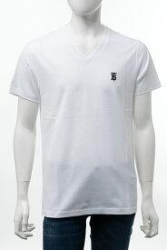 バーバリー BURBERRY Tシャツ 半袖 Vネック メンズ 8017258 ホワイト 送料無料 楽ギフ_包装 2020年秋冬新作