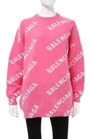 バレンシアガ BALENCIAGA セーター ニット 丸首 クルーネック オーバーサイズ レディース 620983 T1567 ピンク 送料無料 楽ギフ_包装 2020年秋冬新作