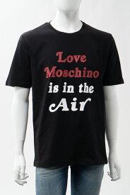 ラブモスキーノ LOVE MOSCHINO Tシャツ 半袖 丸首 クルーネック メンズ M47323W M3876 ブラック 送料無料 楽ギフ_包装