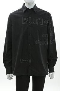 バーバリー BURBERRY シャツ カッターシャツ ワイシャツ 長袖 メンズ 8036769 ブラック 送料無料 楽ギフ_包装 2021年春夏新作