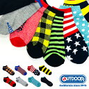 OUTDOOR PRODUCTS アウトドアプロダクツ ブランドスニーカー用ソックス/靴下 10足セット メンズ 福袋 送料無料