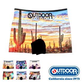 OUTDOOR PRODUCTS(アウトドアプロダクツ) 世界の国シームレスボクサーパンツ メンズ 前閉じ サボテン/ カラベラ/ パームツリー/ フラガール/ ネオンサイン/ スロットマシン M/L AD8011B115
