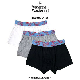 Vivienne Westwood(ヴィヴィアンウエストウッド)ボクサーパンツ 3枚セット パック メンズ 下着 81060010-21424