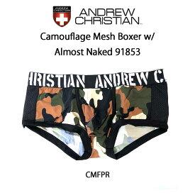 ANDREW CHRISTIAN(アンドリュークリスチャン)ボクサーパンツ メンズ 下着 Camouflage Mesh Boxer w/ Almost Naked 91853
