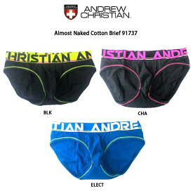 ANDREW CHRISTIAN(アンドリュークリスチャン)ブリーフ メンズ 下着 Almost Naked Cotton Brief 91737