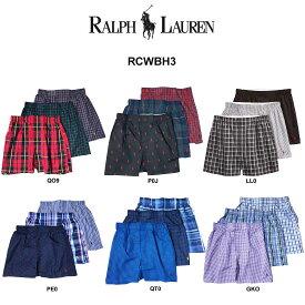 POLO RALPH LAUREN(ポロ ラルフローレン)トランクス 3枚セット お買い得 パック メンズ 下着 RCWBH3